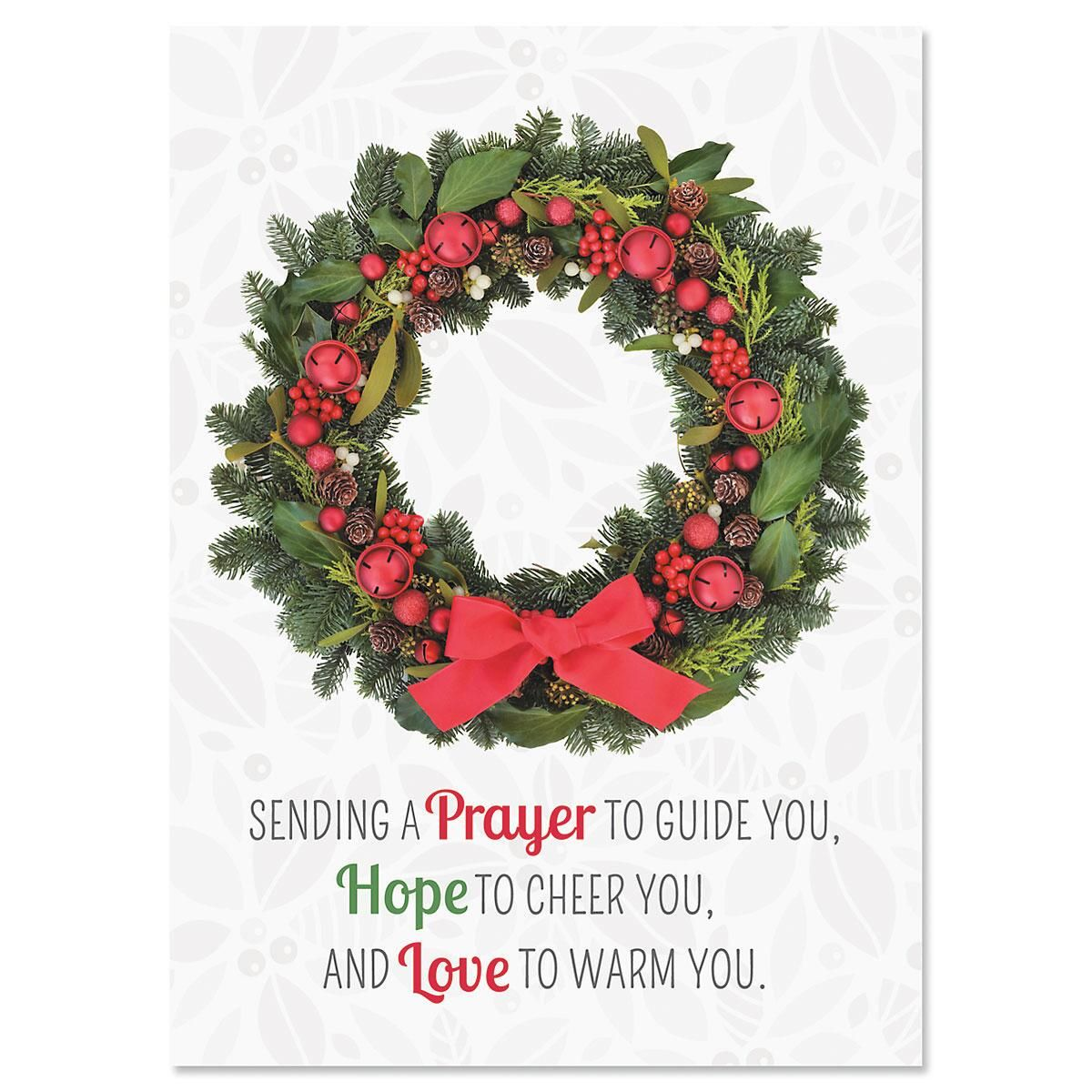 Photo Wreath Nonpersonalized Christmas Cards - Set of 72