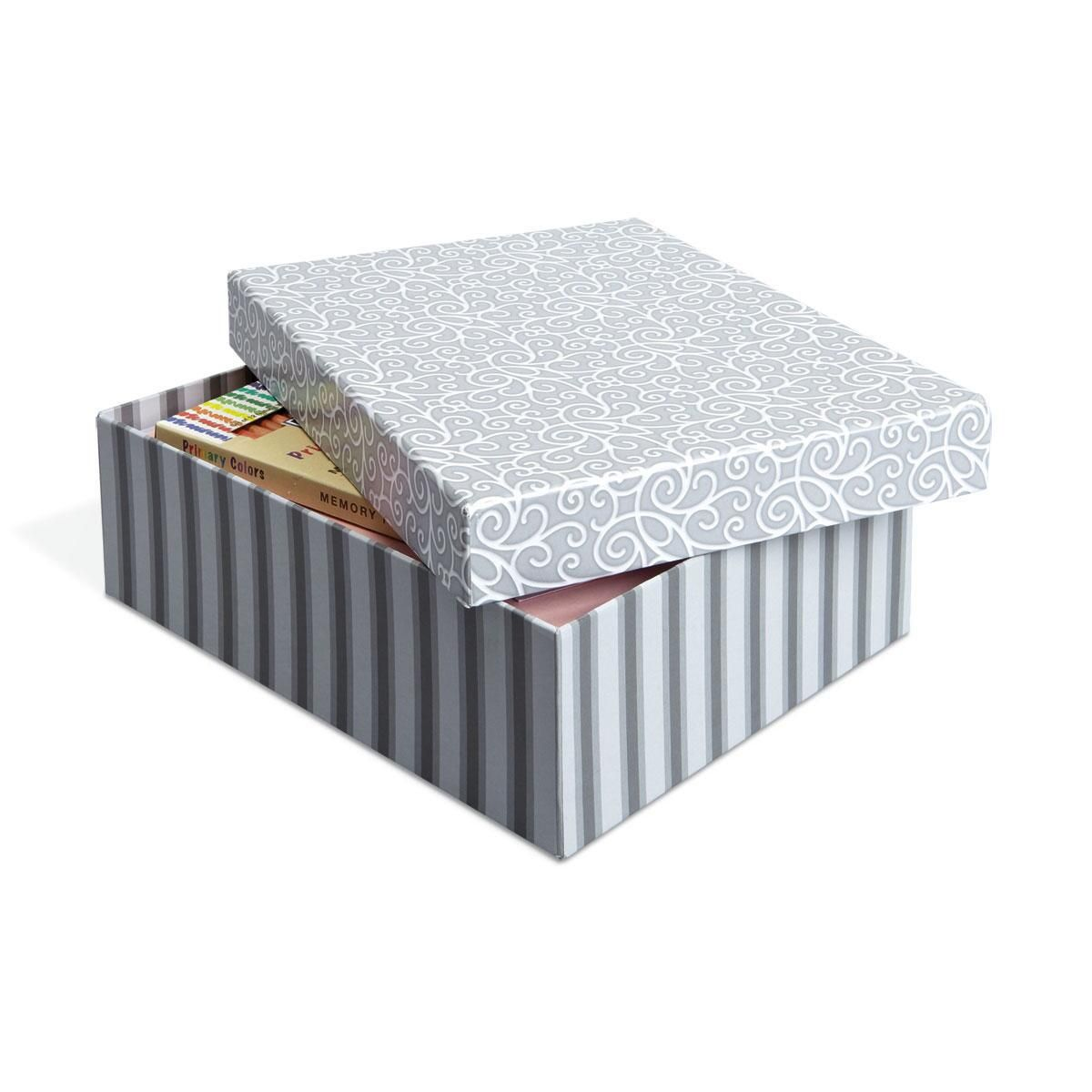 Gray & White Desk Organizer Box
