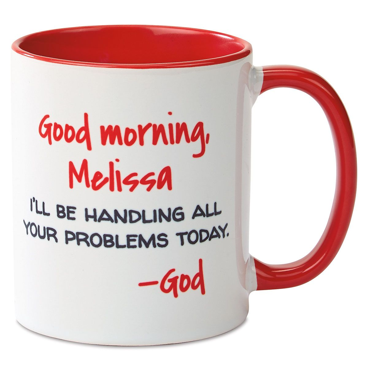 Good Morning Personalized Red Mug
