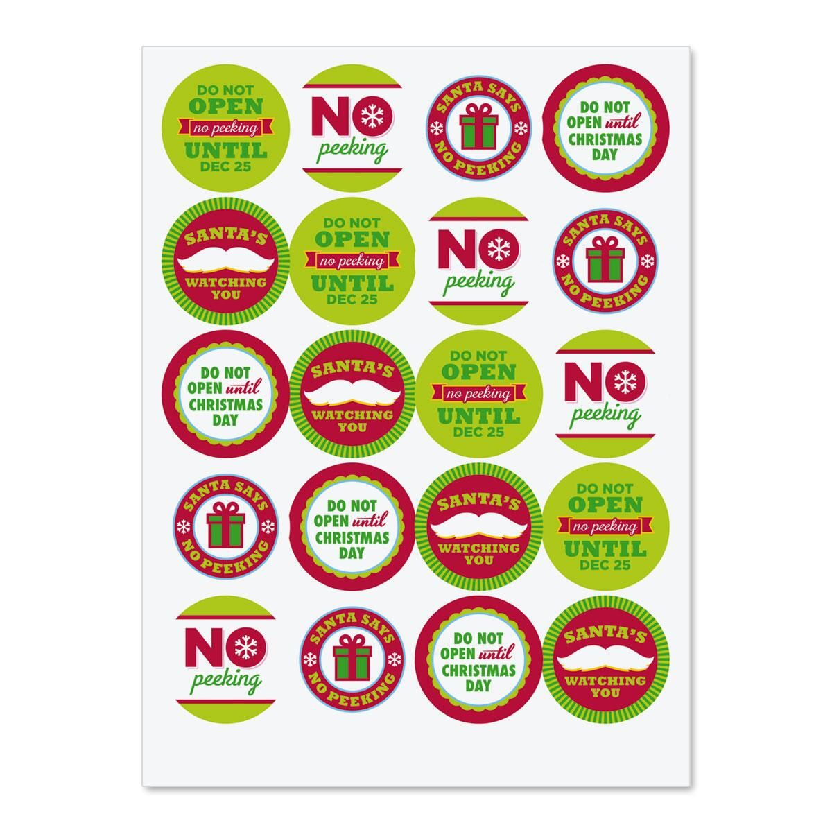 No Peeking Stickers
