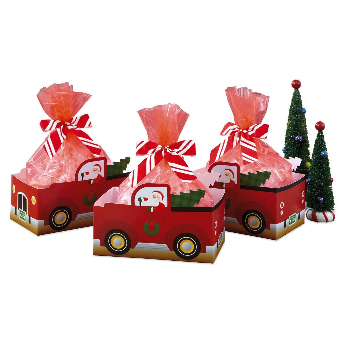 Red Truck Basket Boxes