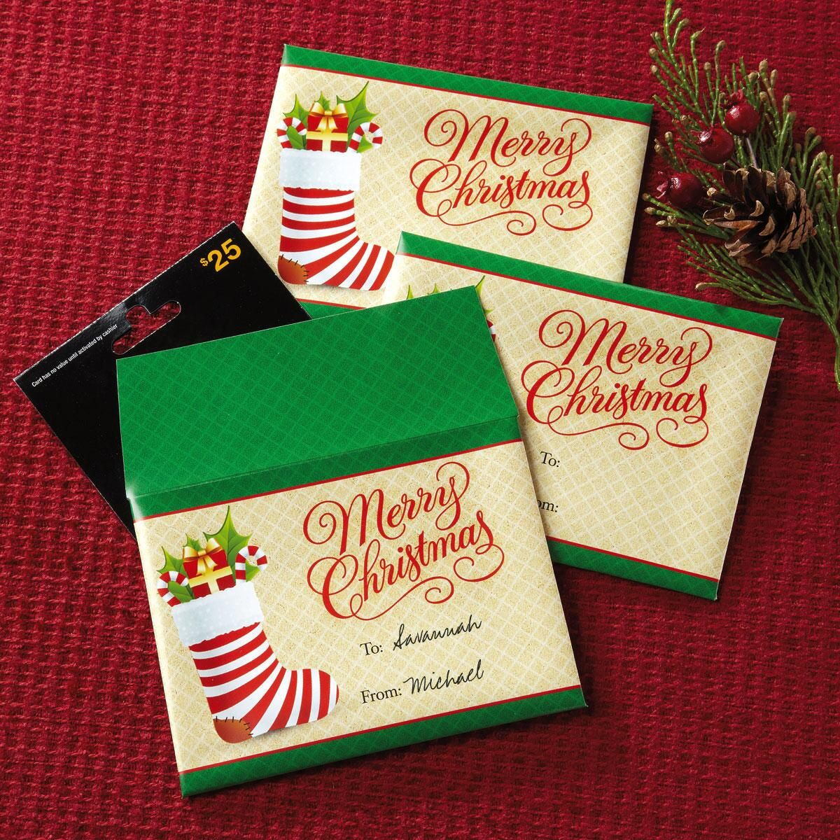 Stockings Gift Card Envelopes
