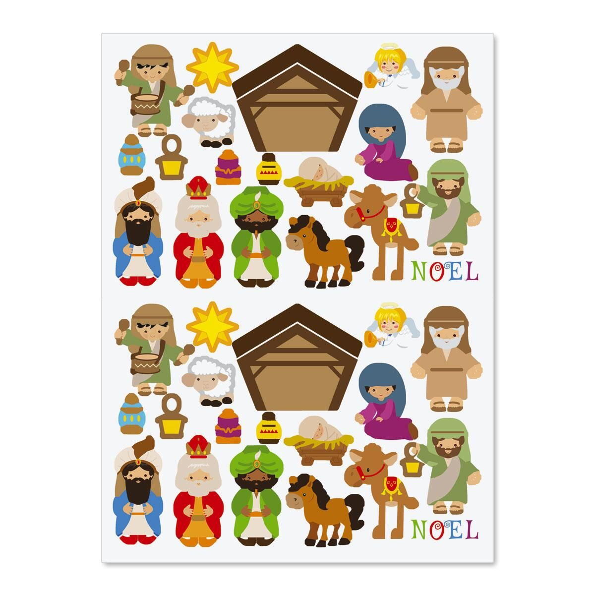 Build-a-Nativity Stickers