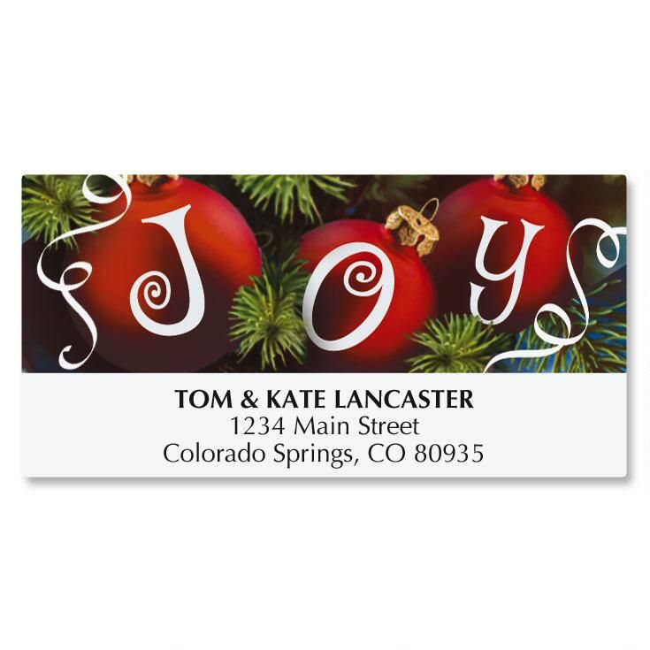 Ornament Joy Deluxe Address Labels