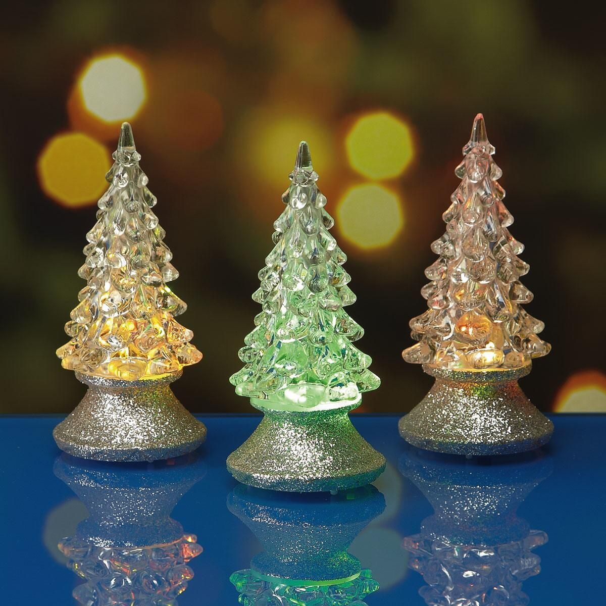 mini light up led christmas trees