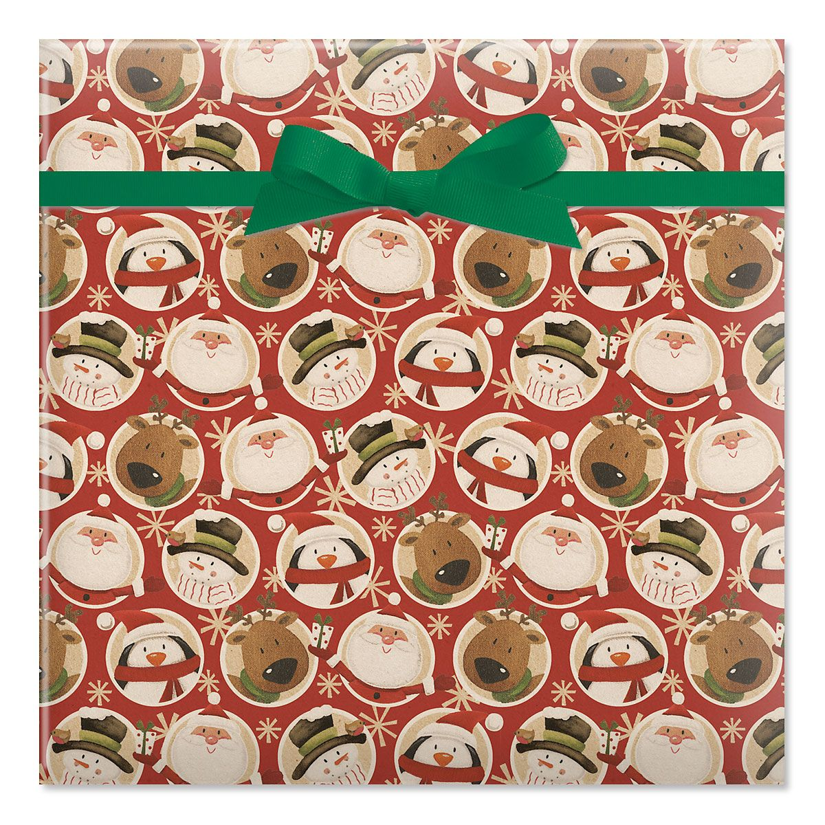 Mixed Folk Characters Jumbo Rolled Gift Wrap