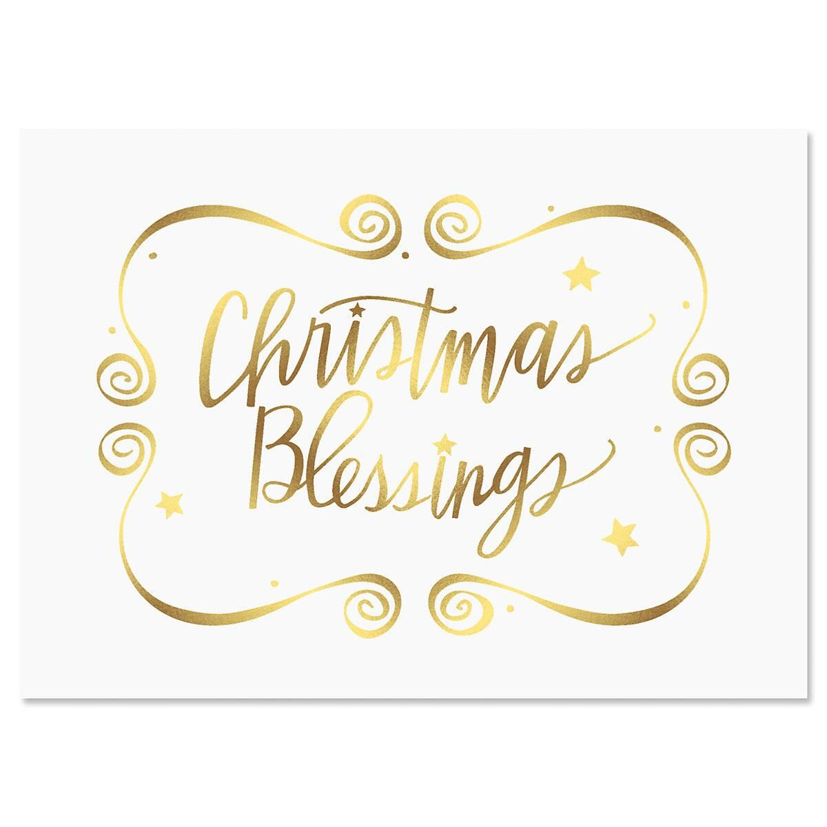 Christmas Blessings Deluxe Christmas Cards