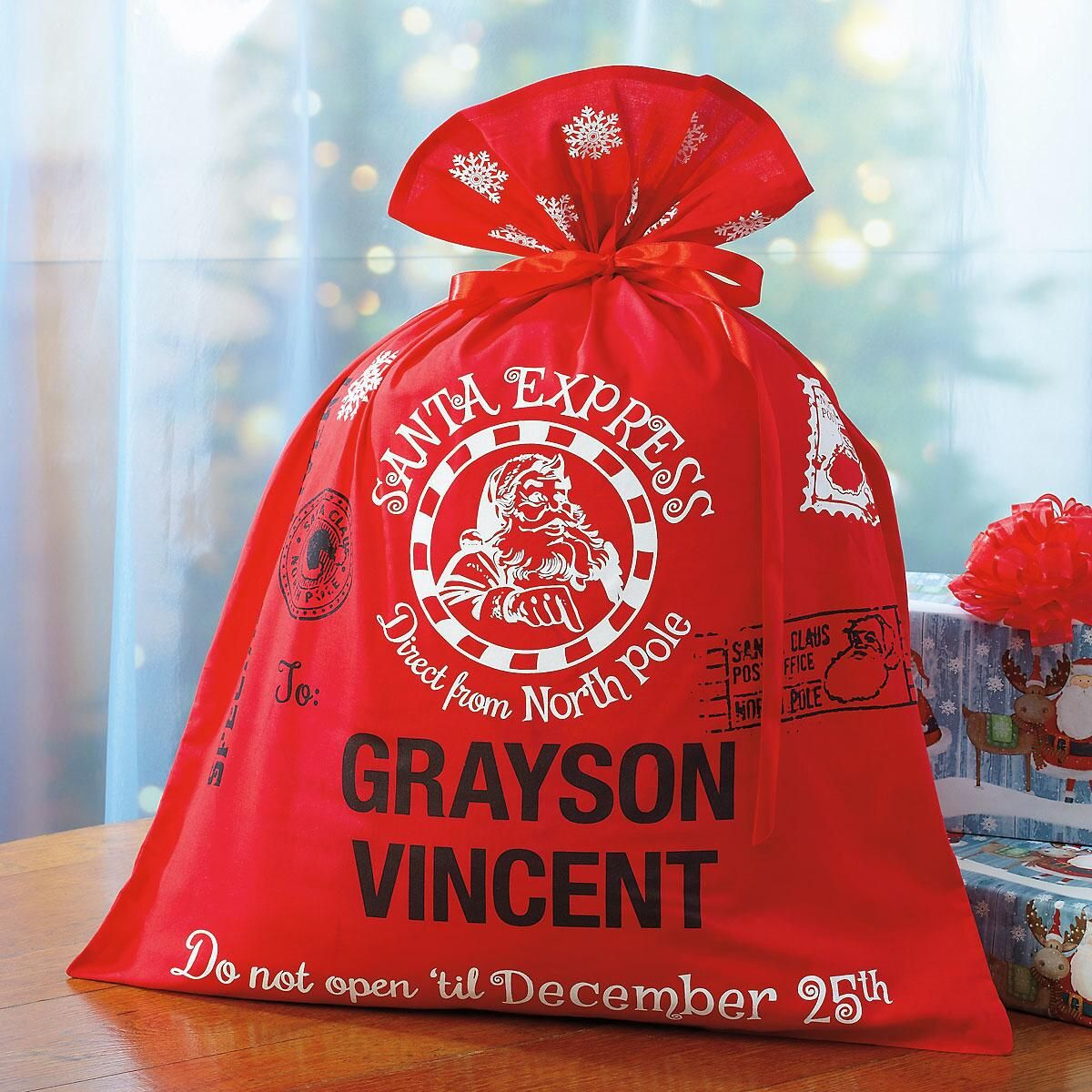 Personalized Santa Express Gift Bag