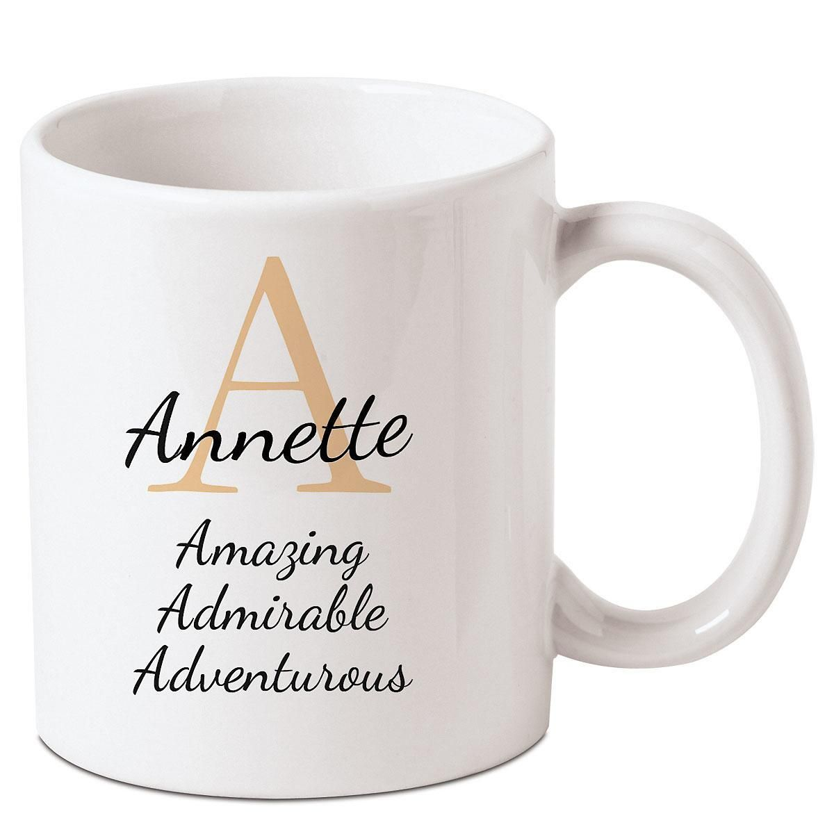 Personalized Initial Admiration Mug