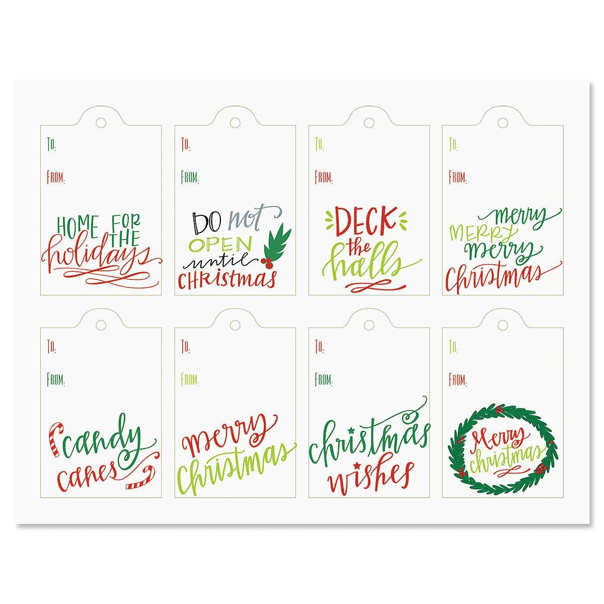 Christmas Lettering Tags