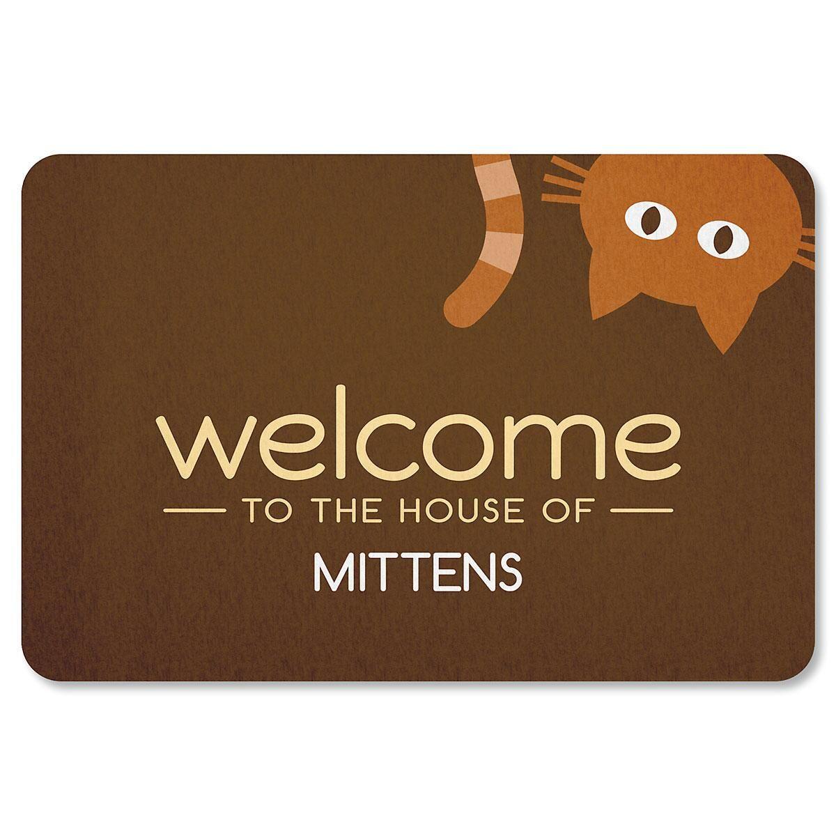 Personalized Cat Welcome Doormat