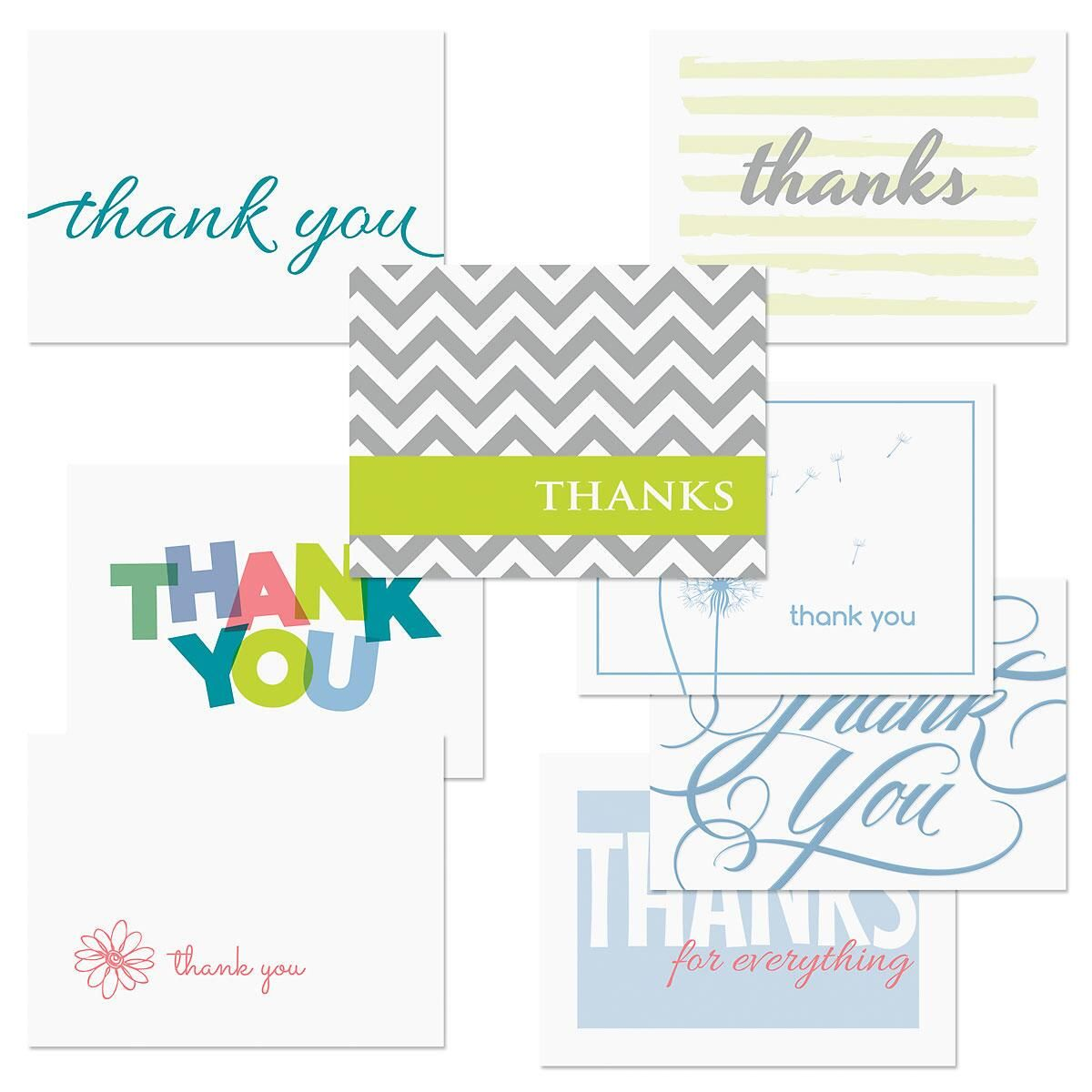 Thank You Note Card Value Pack