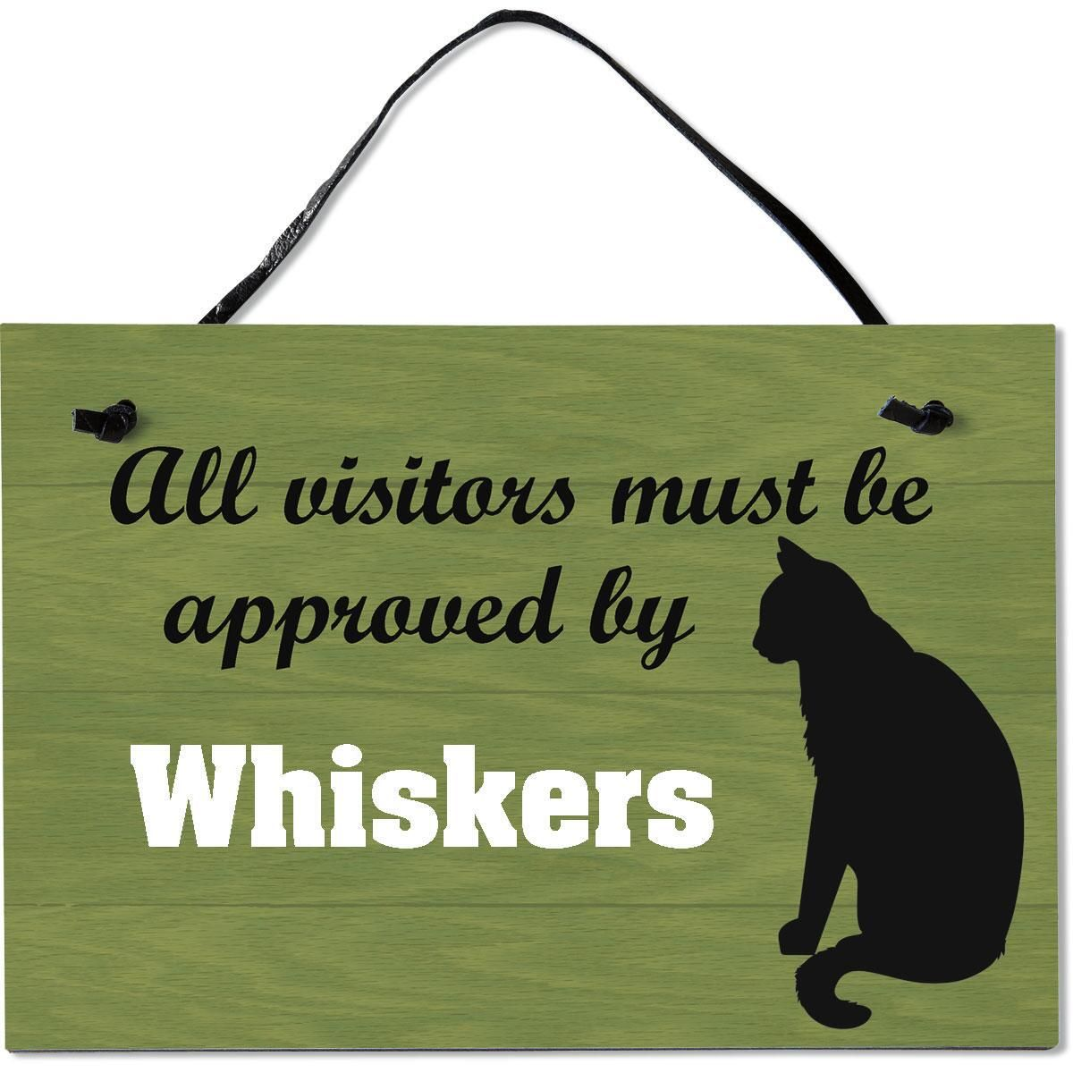 Visitors Approved Personalized Wooden Plaque