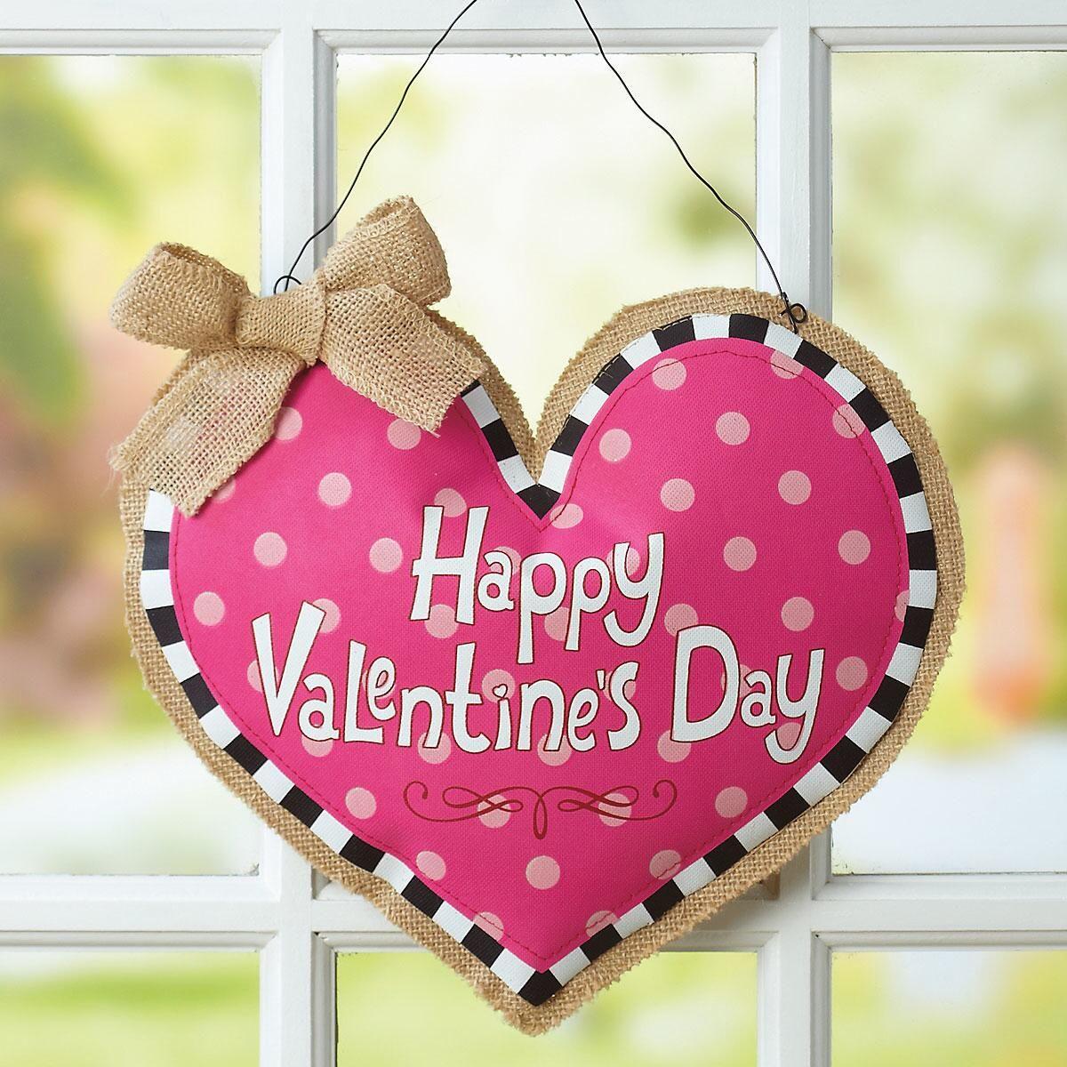 Door Deco Burlap Heart
