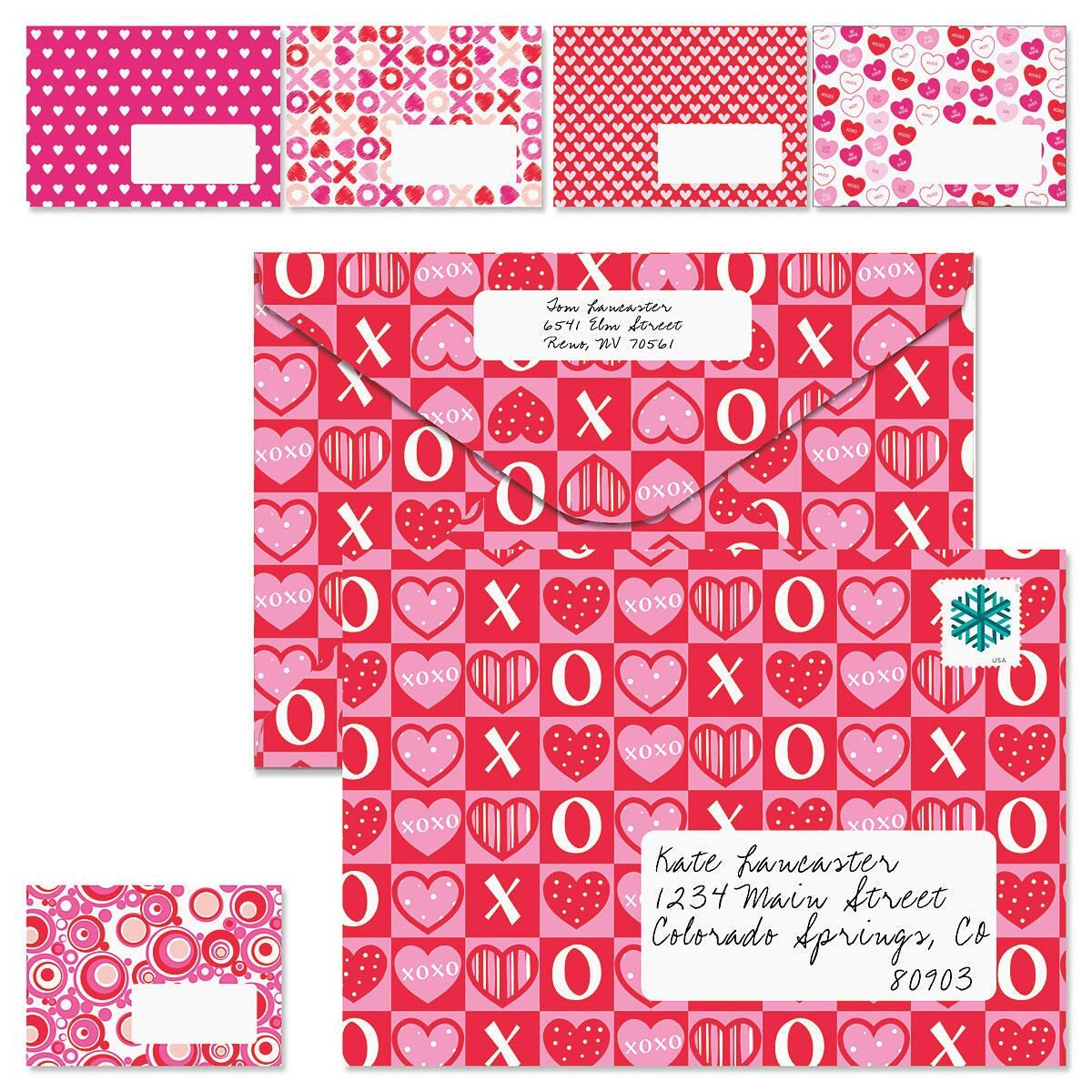 Assorted Heart Prints Envelopes