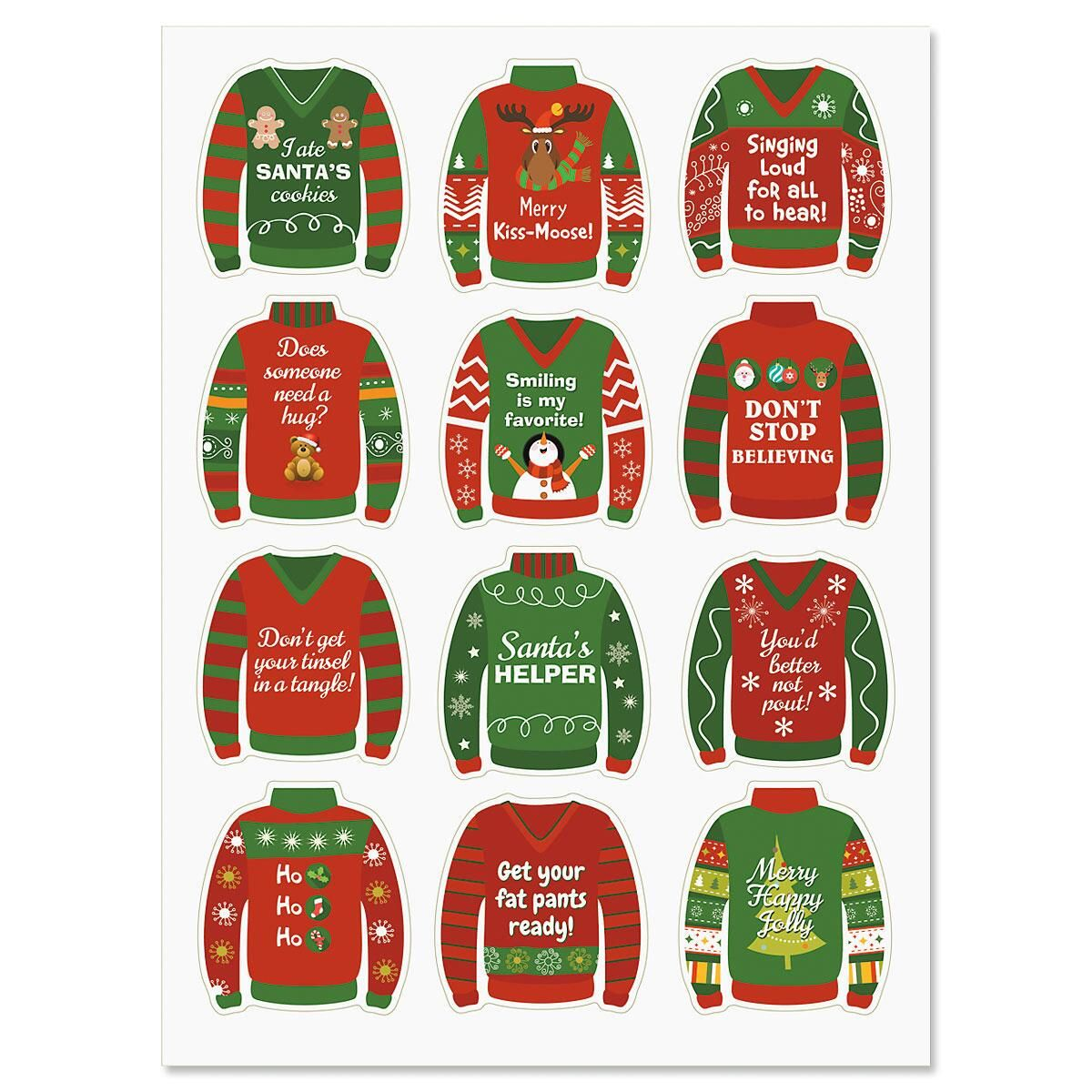 Ugly Sweater Holiday Stickers