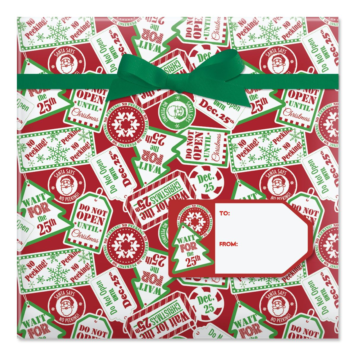 Do Not Open Until Christmas Jumbo Rolled Gift Wrap | Current Catalog