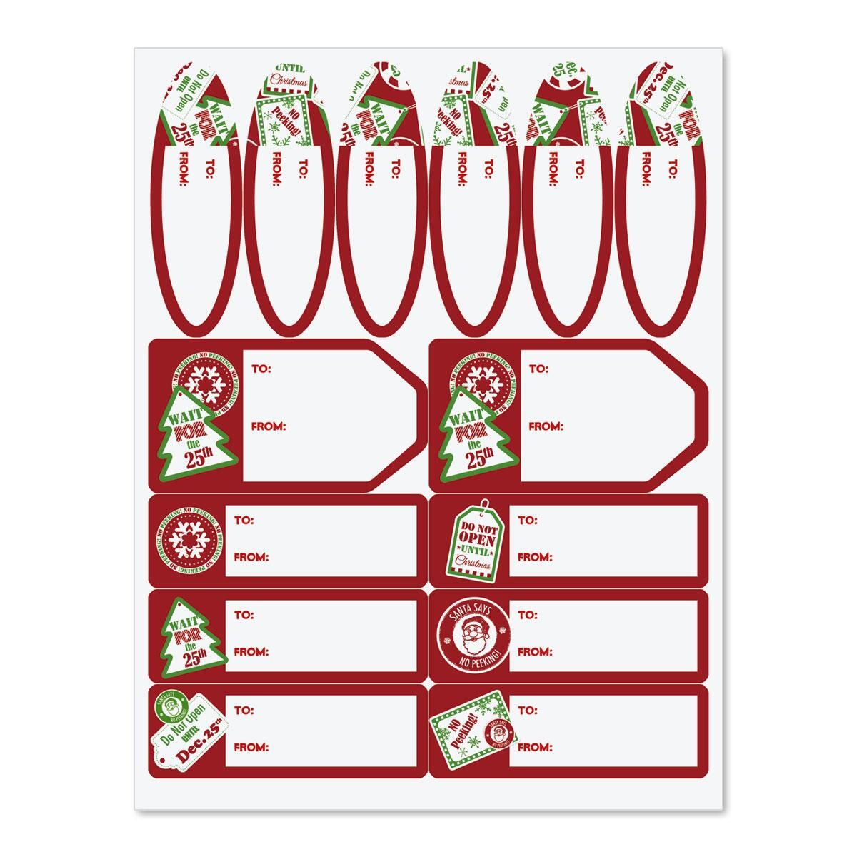Christmas Labels.Do Not Open Until Christmas Gift Labels