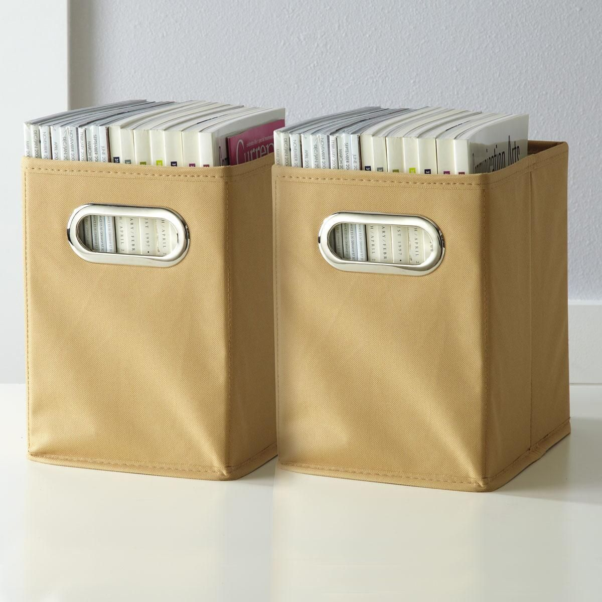 Tan Canvas Magazine Holder