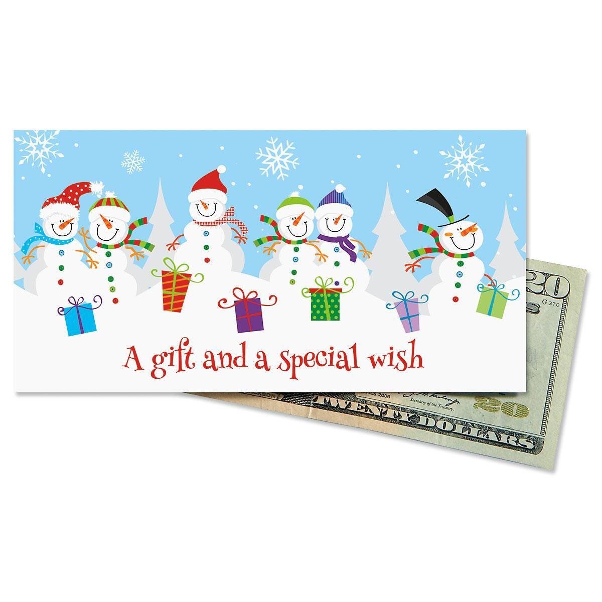 Cheerful Snowmen Cash Cards