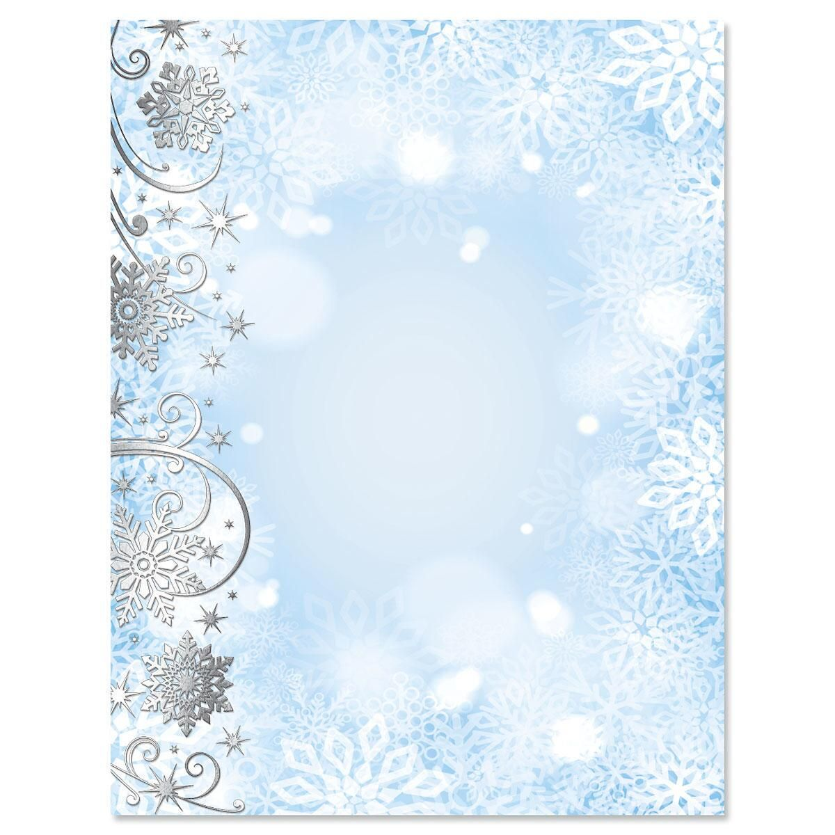 Swirling Flakes Deluxe Christmas Letter Papers