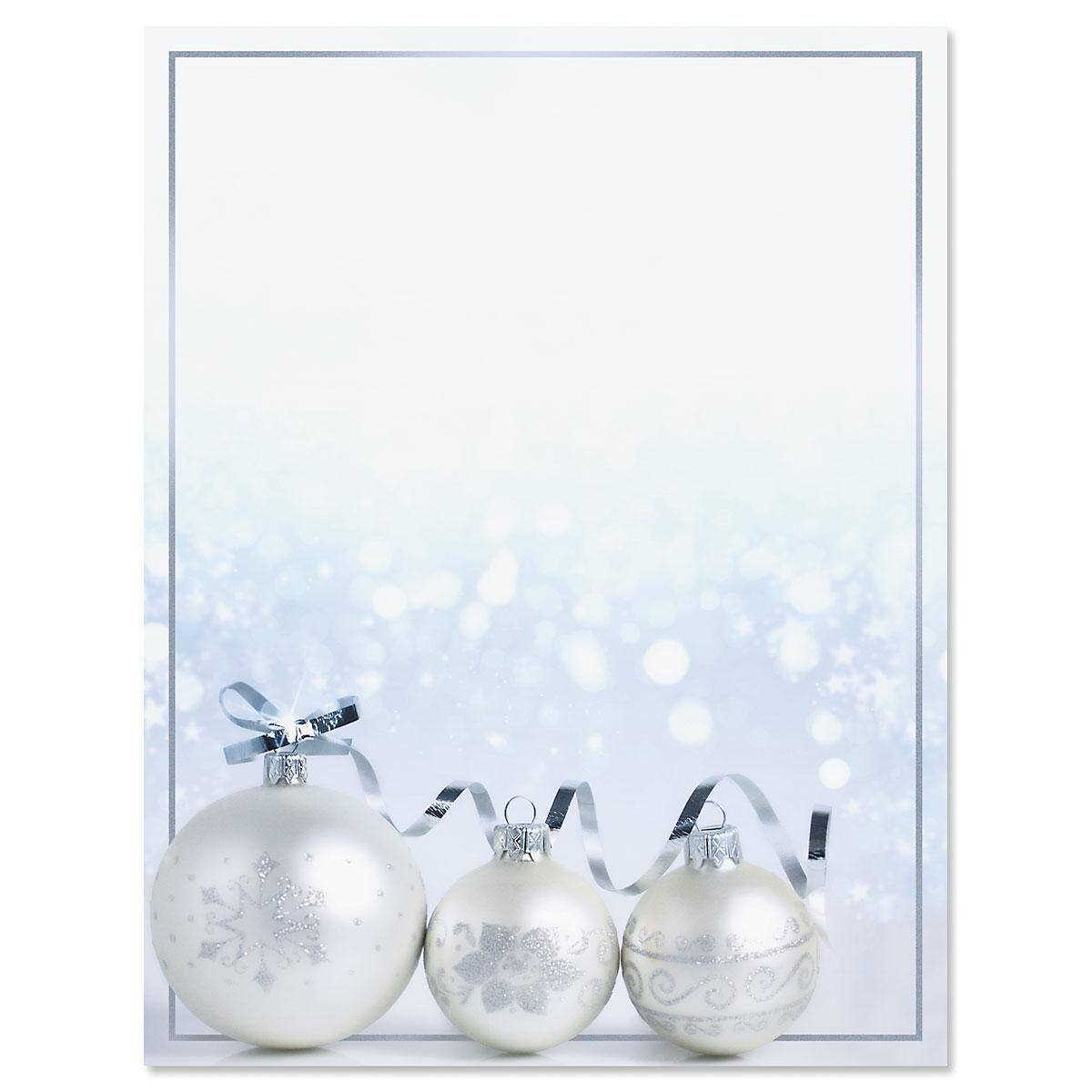 Shimmering Ornaments Christmas Letter Papers
