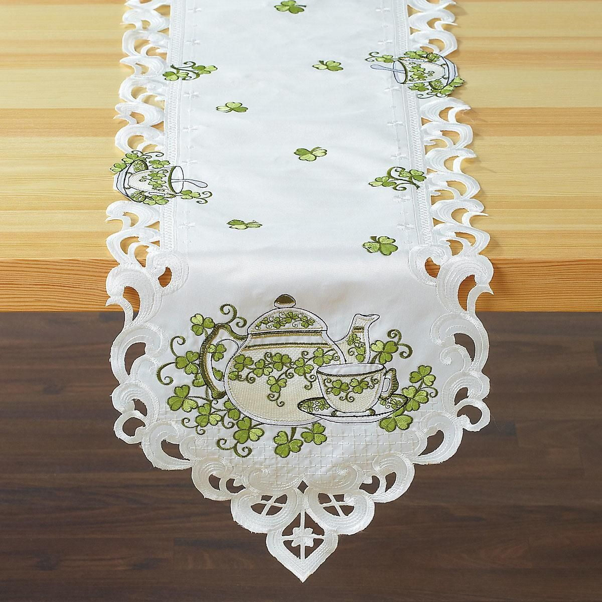 Teapots & Shamrocks Table Runner