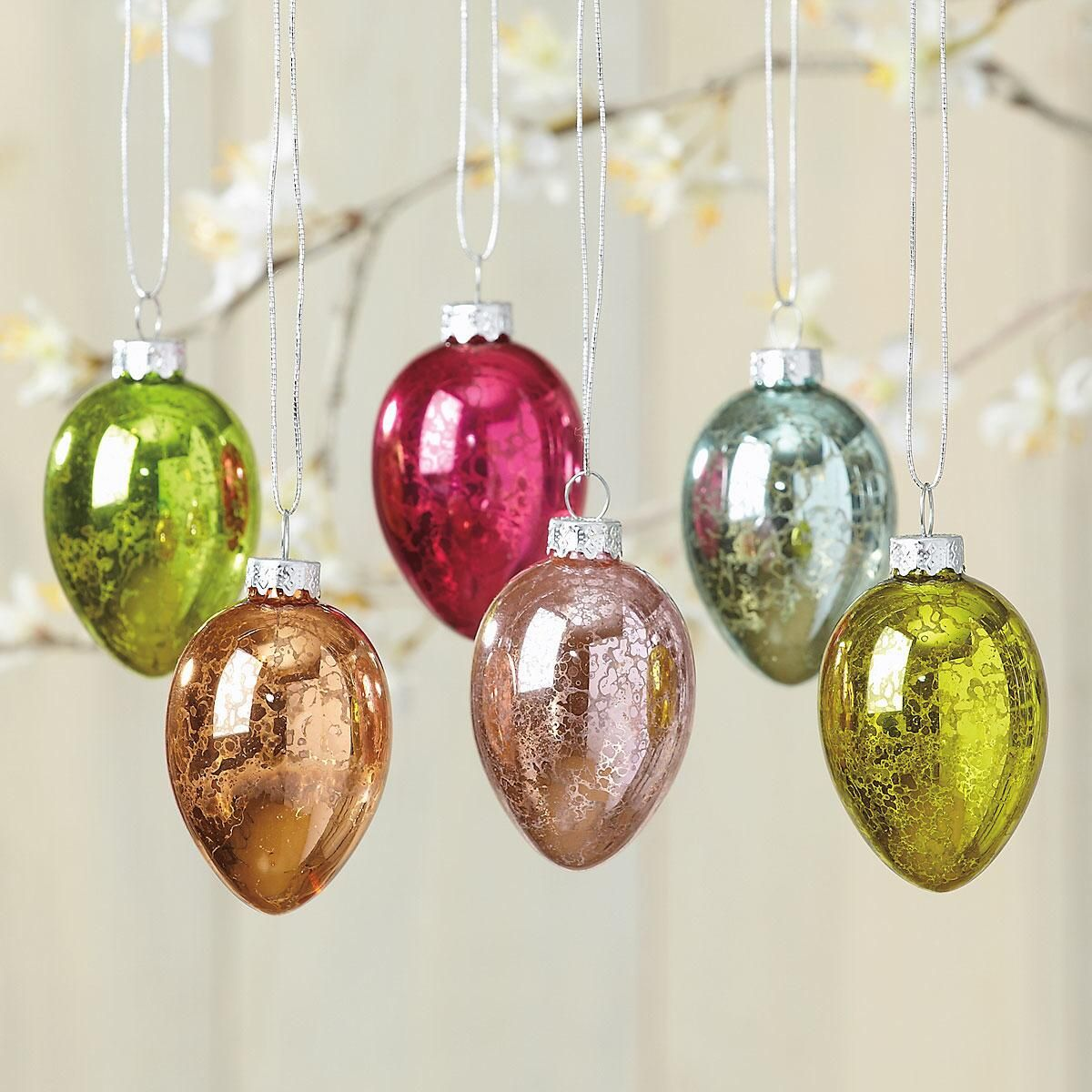 Crackle Finish Eggs Ornaments