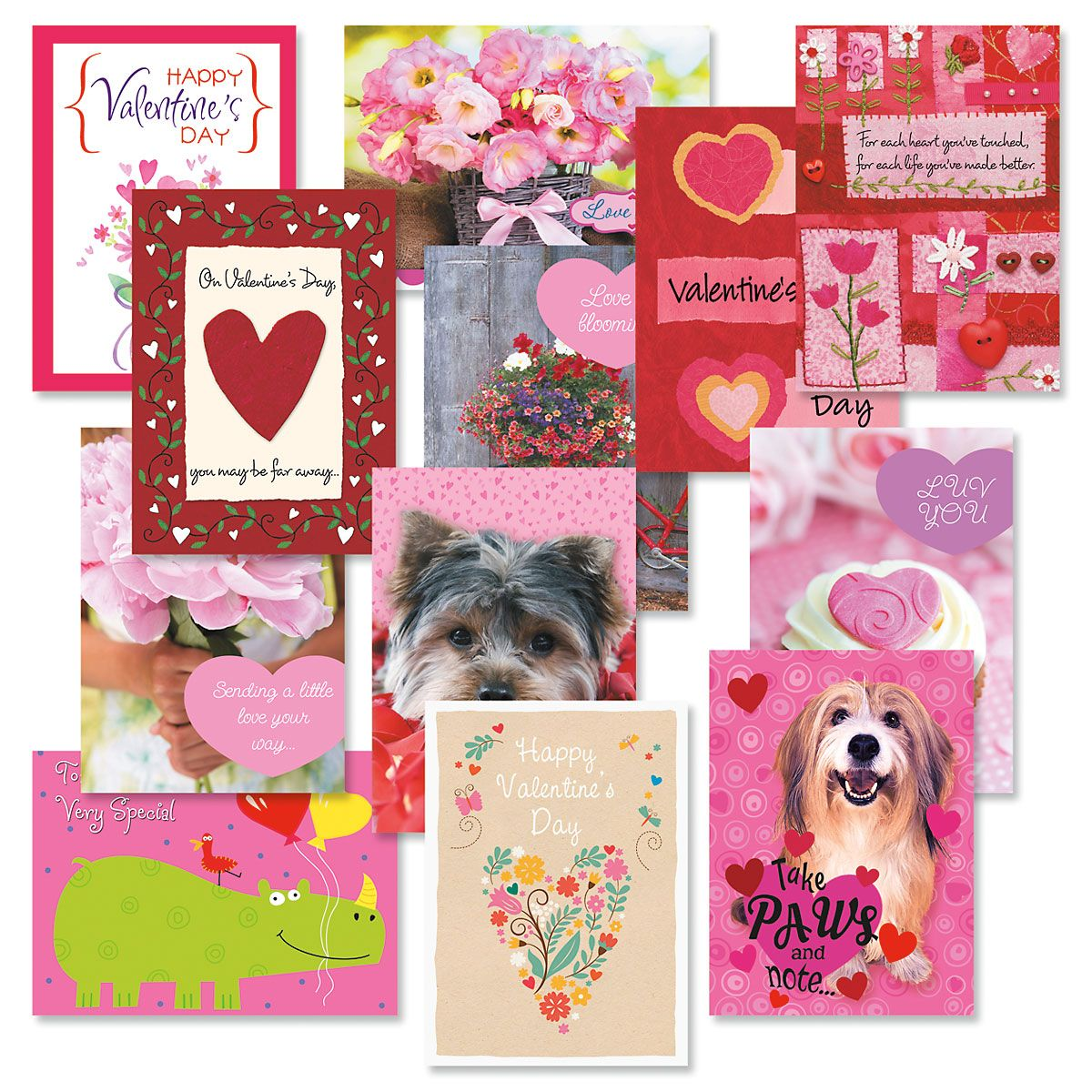 Valentines Day Cards Value Pack