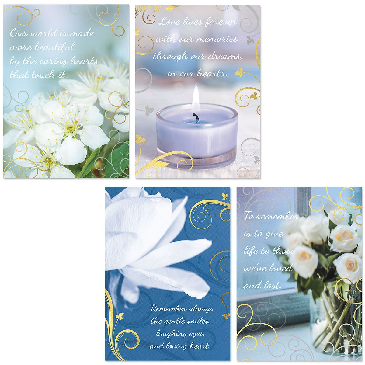 Deluxe Caring Sympathy Cards and Seals