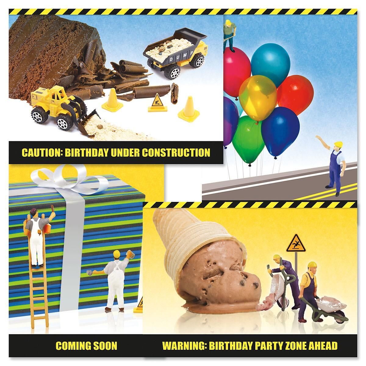 Under Construction Birthday Cards