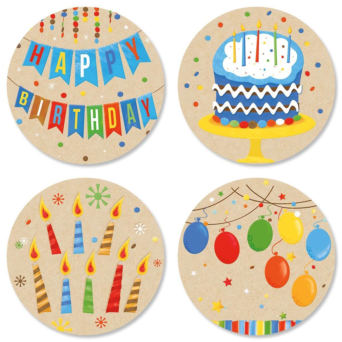 Kraft Birthday Seals