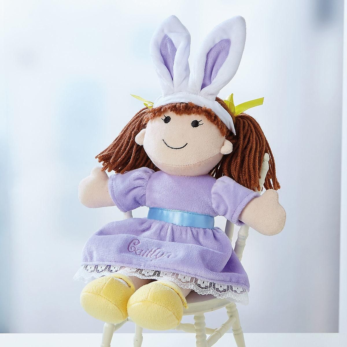 Personalized Easter Bunny Ears Doll