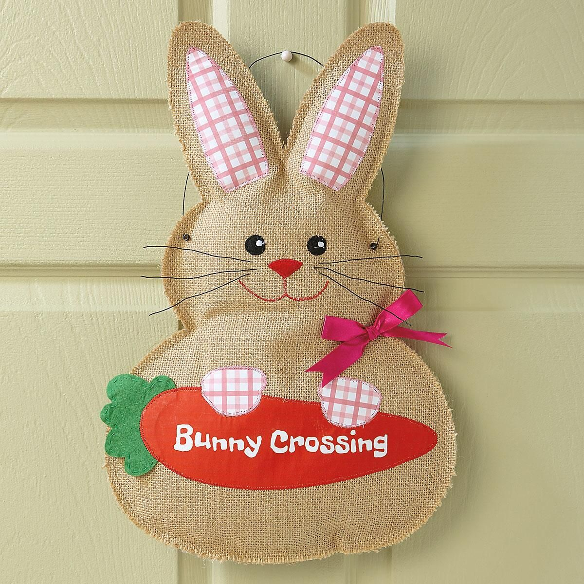 Burlap Bunny Door Decor