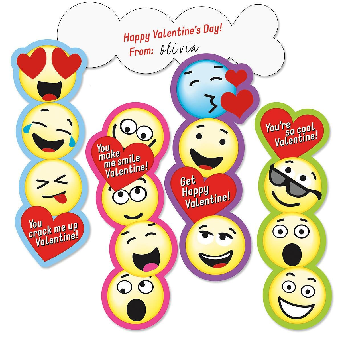 Emoji Bookmark Kids\' Valentines | Current Catalog