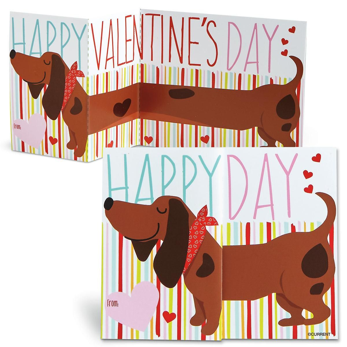 Trifold Dachshund Valentines