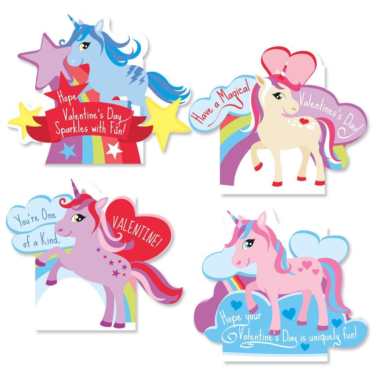 Unicorn Kids Valentines
