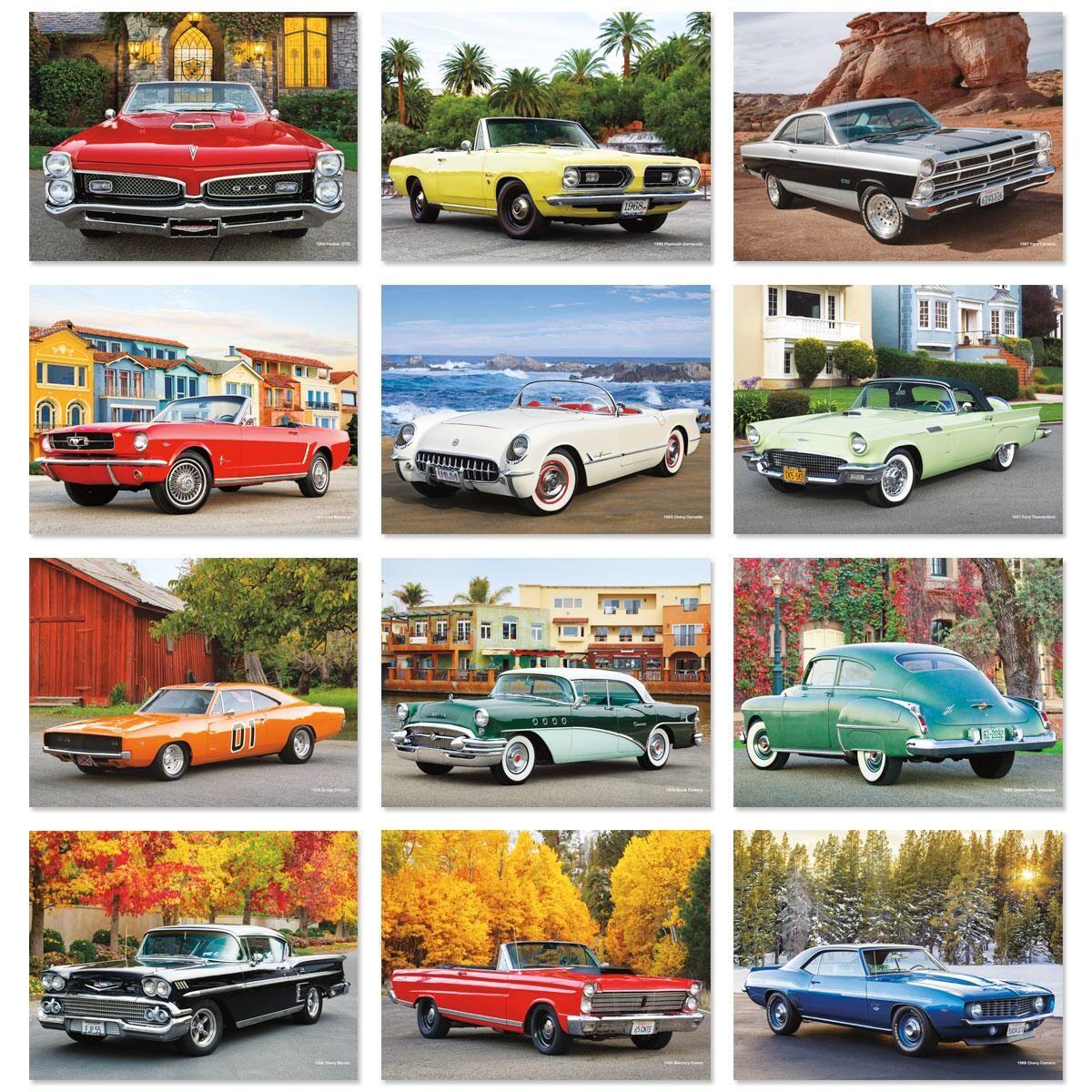 2018 Classic Cars Wall Calendar
