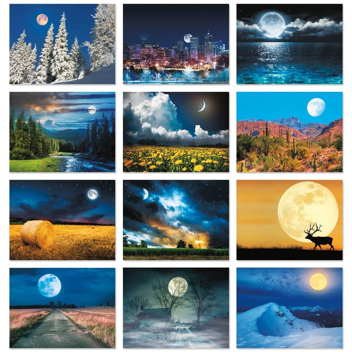 2018 Moonscapes Wall Calendar
