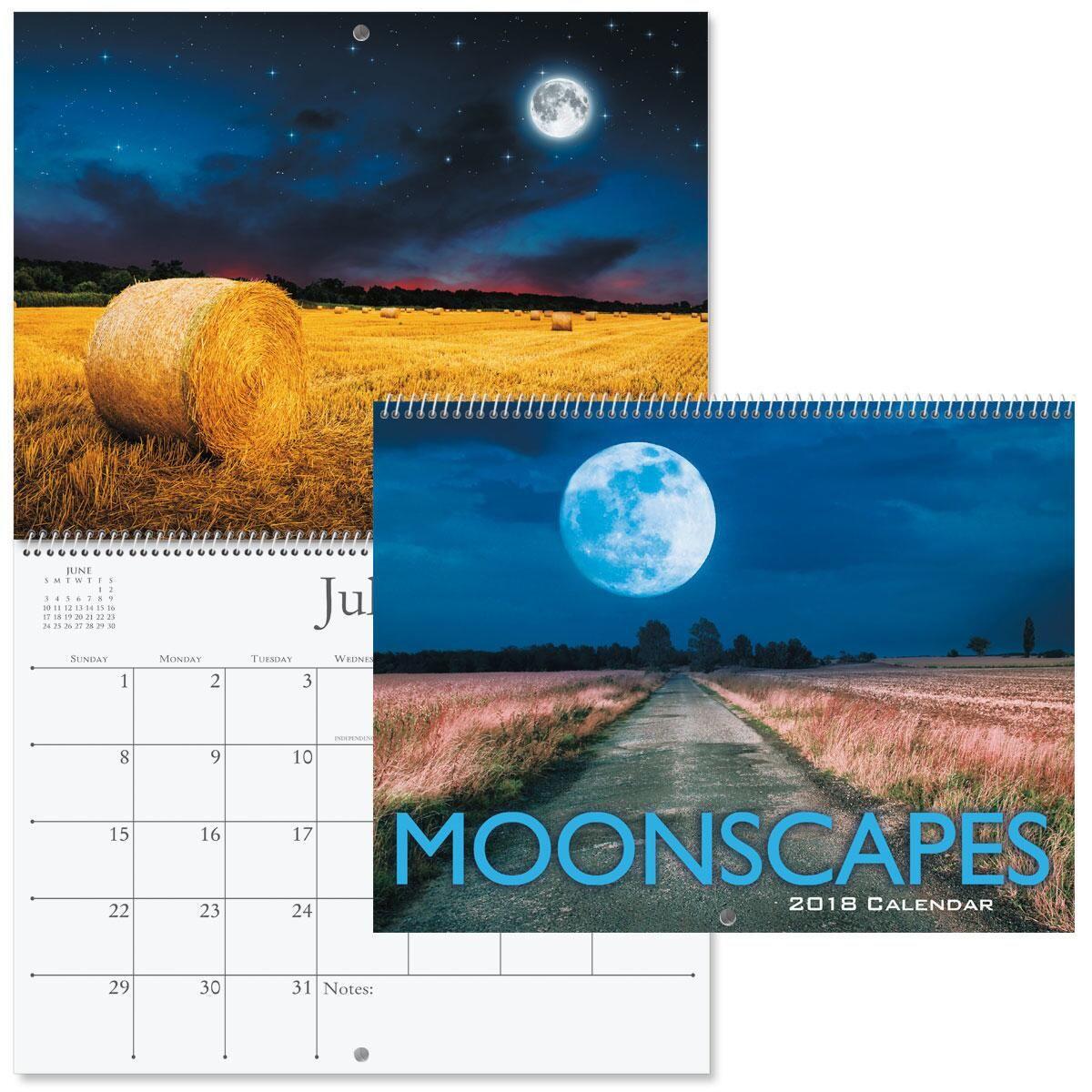 2018 Moonscapes Wall Calendar