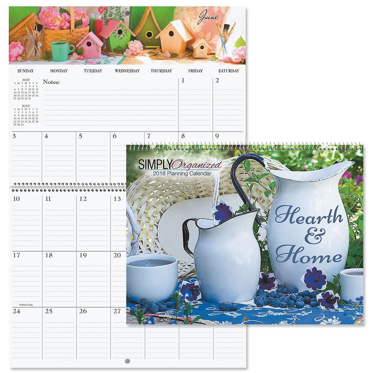 2018 Hearth & Home Big Grid Planning Calendar