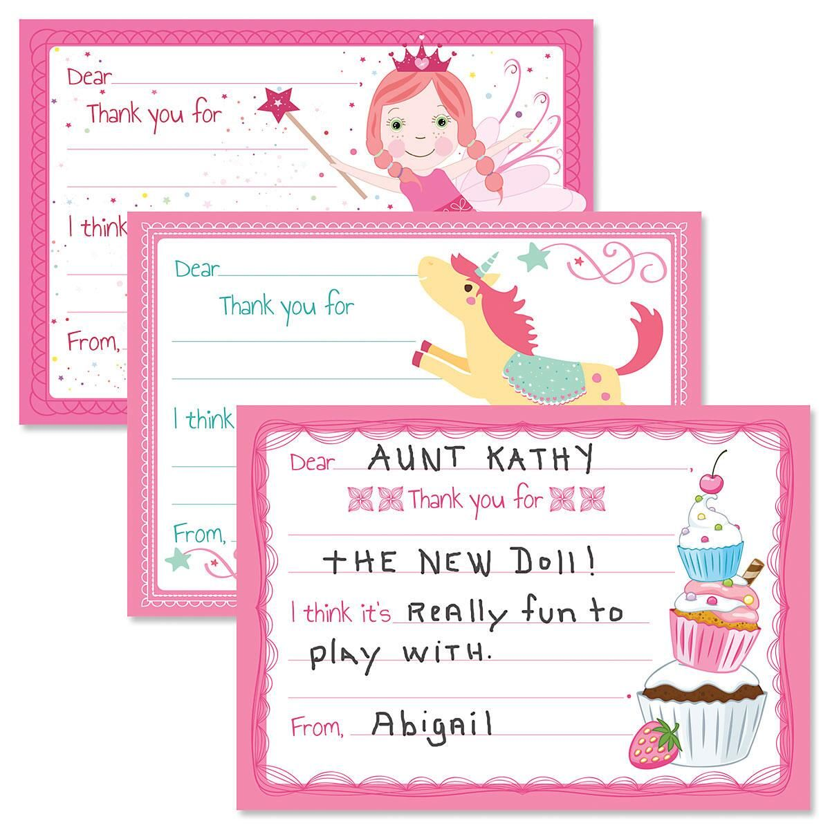 Kids Girls Thank You Cards Value Pack Current Catalog