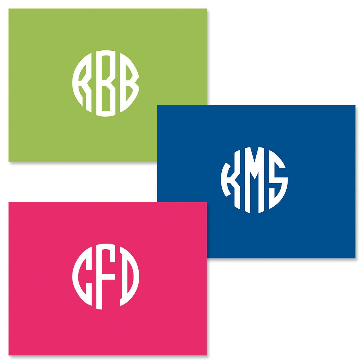 Monogram Central Personalized Note Cards