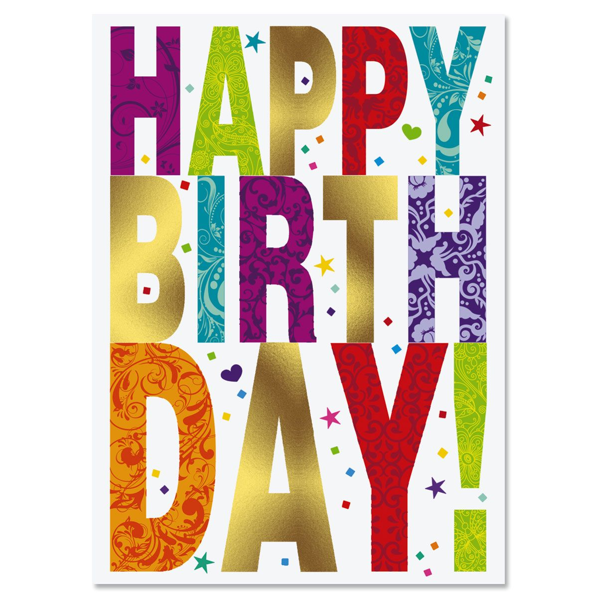 Deluxe Foil Birthday Cards