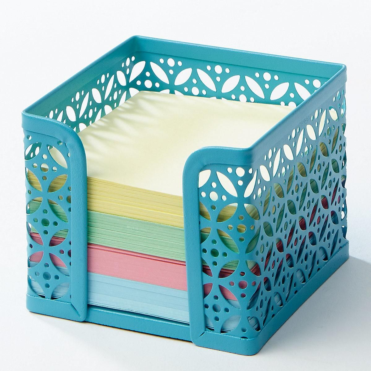 Bright Teal Memo Paper Holder