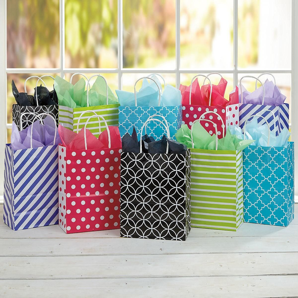 Geometric Patterns Gift Bags