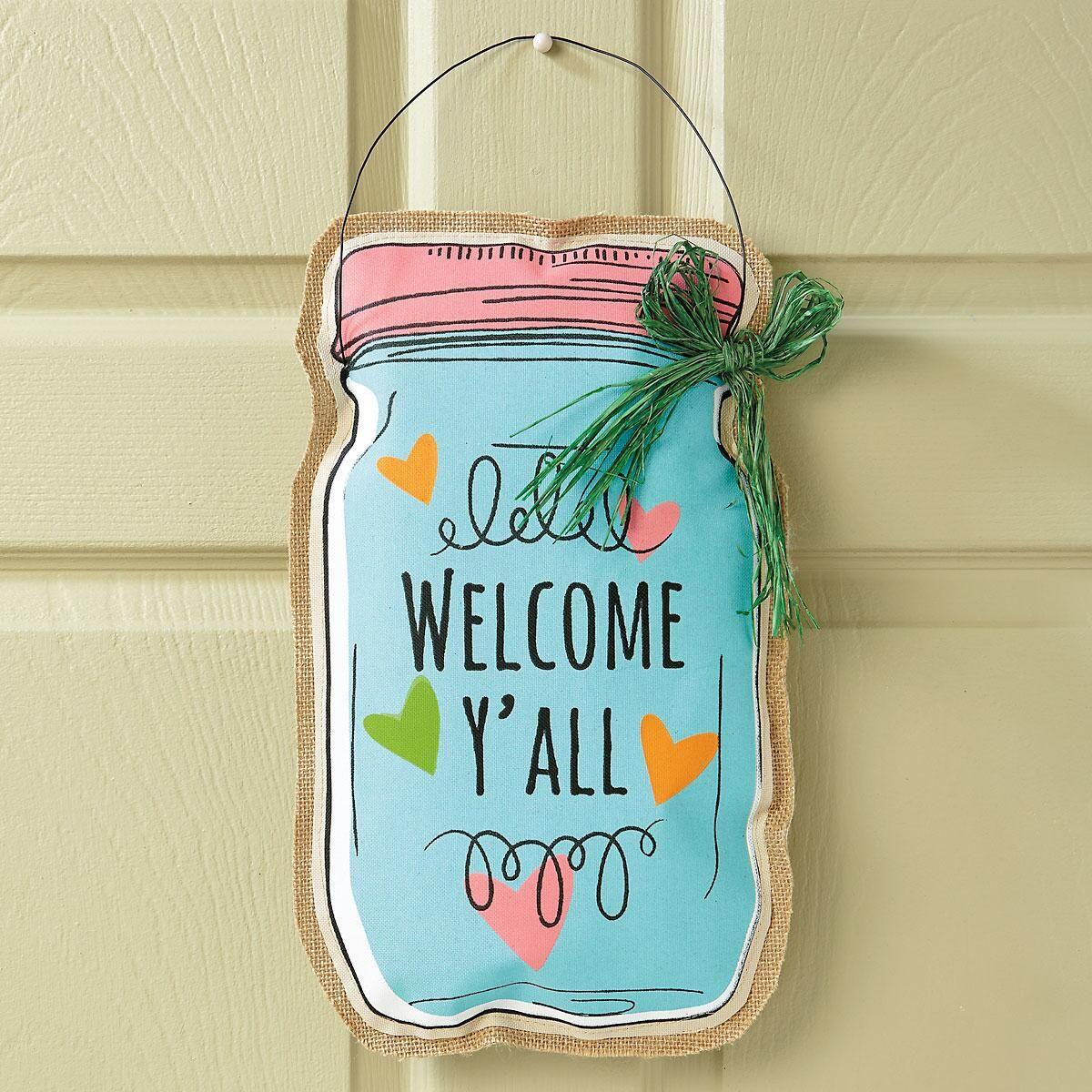 Welcome Mason Jar Door Decoration | Current Catalog