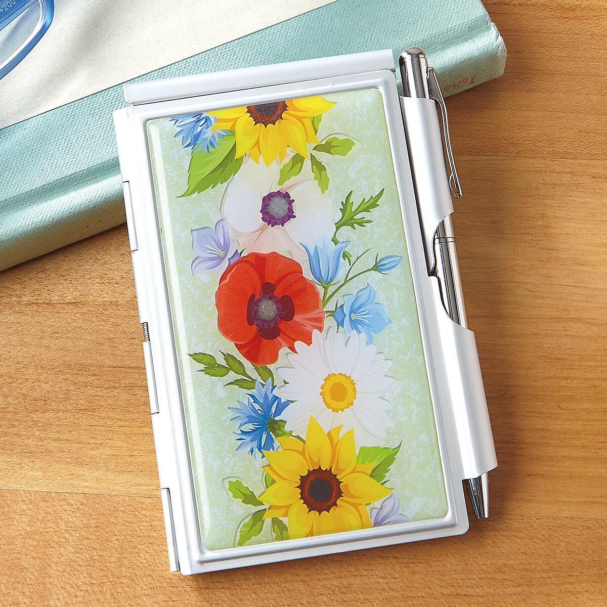 Colorful Flowers Notepad & Pen