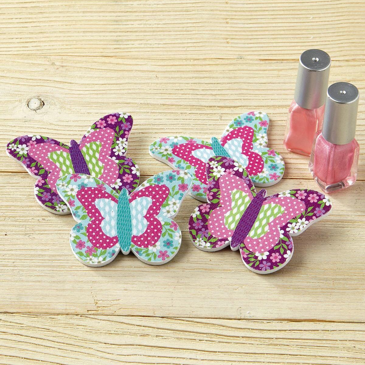 Patterned Butterflies Emery Boards