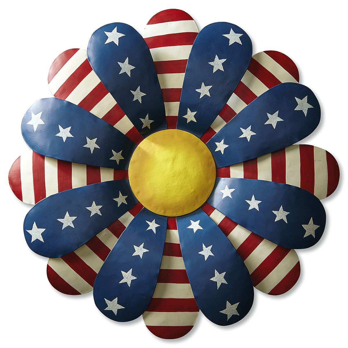 Stars & Stripes Metal Flower Decor